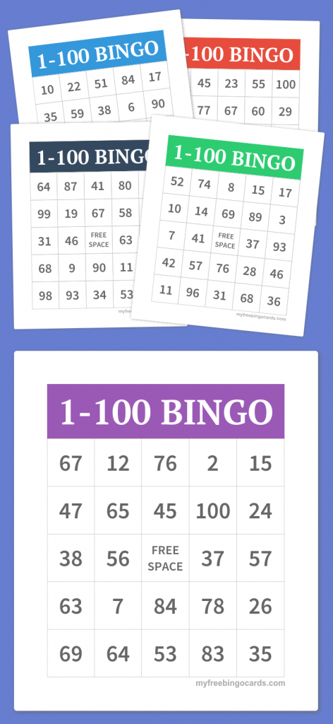 1-100 Bingo   Party Games   Free Bingo Cards, Bingo, Free Printable   Printable Bingo Cards 1 100
