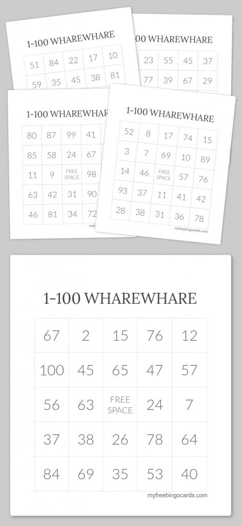 1-100 Wharewhare Bingo   Wharewhare 1-100   Free Printable Bingo   Free Printable Bingo Cards 1 100