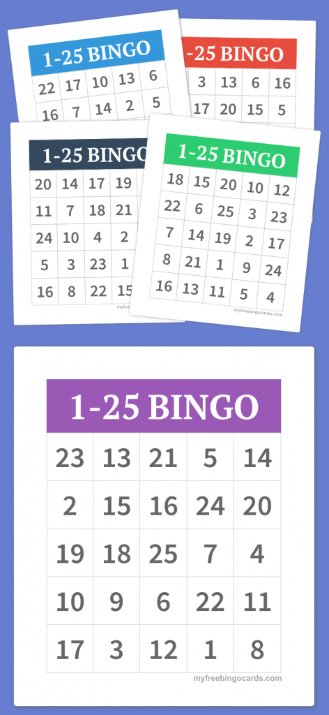 1-25 Bingo   Diy   Free Bingo Cards, Bingo, Free Printable Bingo Cards   Free Printable Bingo Cards With Numbers