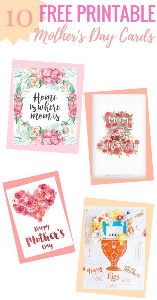 10 Completely Free Printable Mother's Day Cards   Printables   Free Printable Mothers Day Cards To My Wife