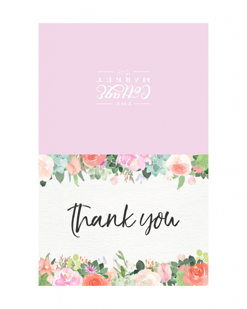 10 Free Printable Thank You Cards You Can't Miss - The Cottage Market | Cute Printable Thank You Cards