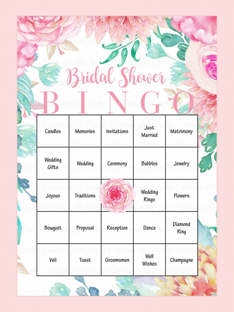 10 Printable Bridal Shower Games You Can Diy | Bridal Showers | Printable Blank Bridal Shower Bingo Cards