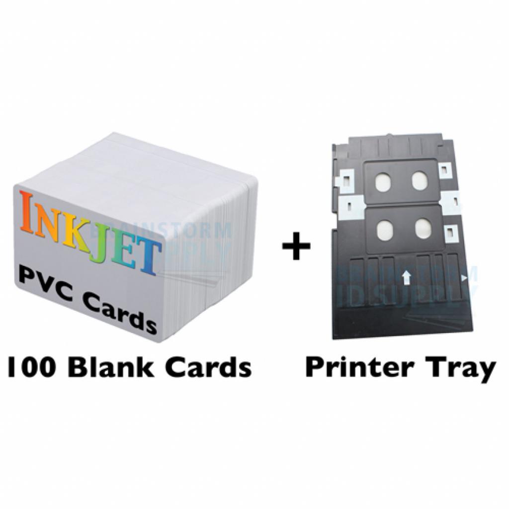 100 Pvc Card Id Kit For Inkjet Printers | Inkjet Printable Pvc Id Cards