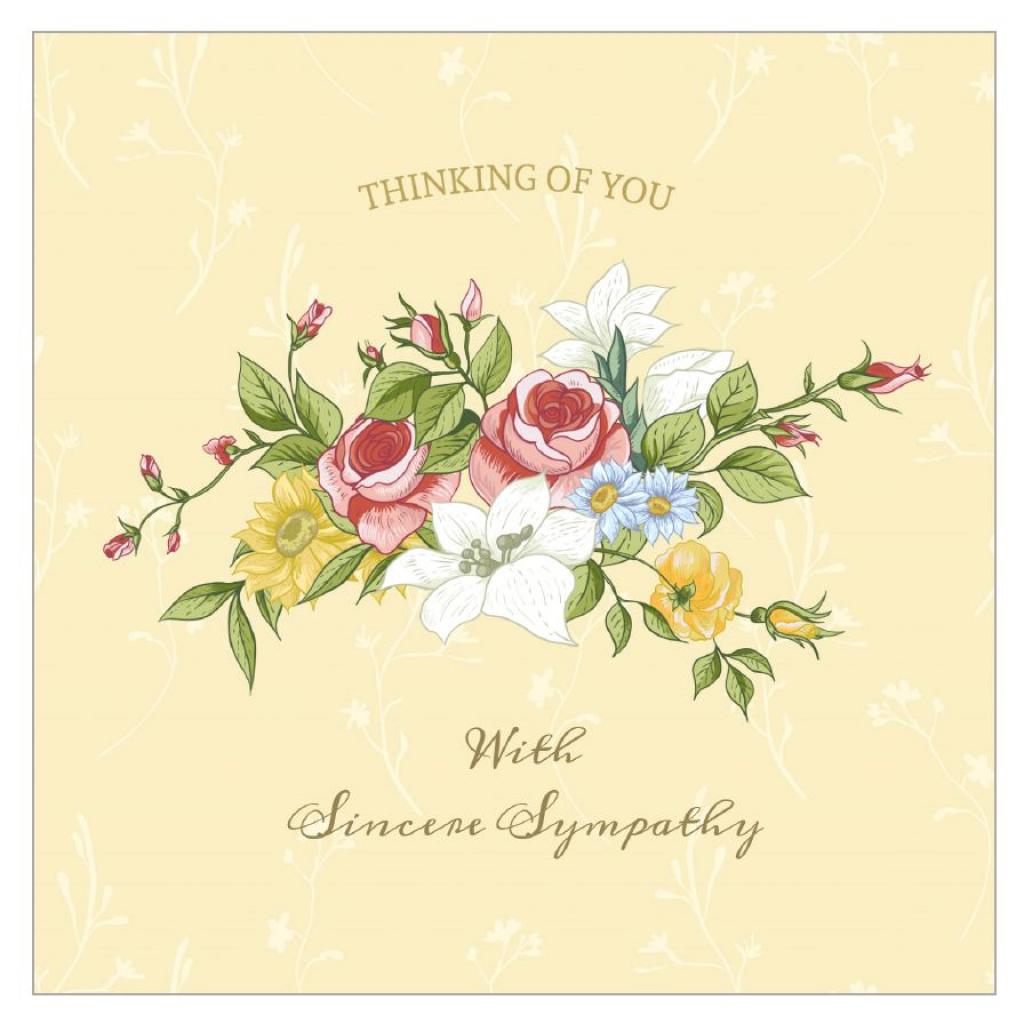 11 Free, Printable Condolence And Sympathy Cards | Thank You Sympathy Cards Free Printable
