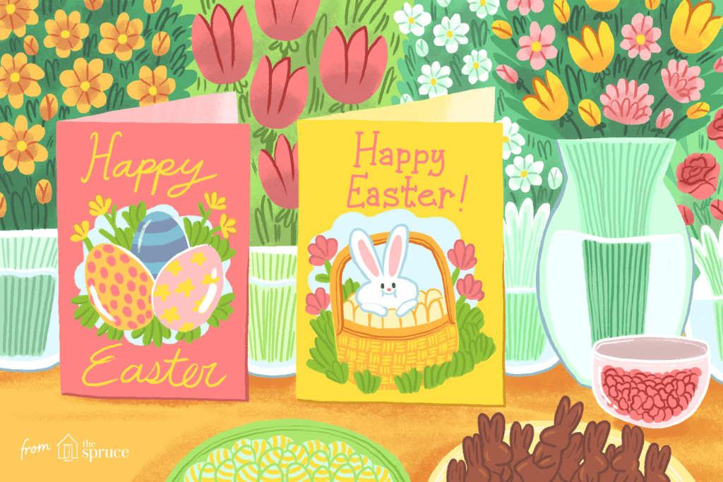 12 Free, Printable Easter Cards For Everyone You Know   Printable Greek Easter Cards