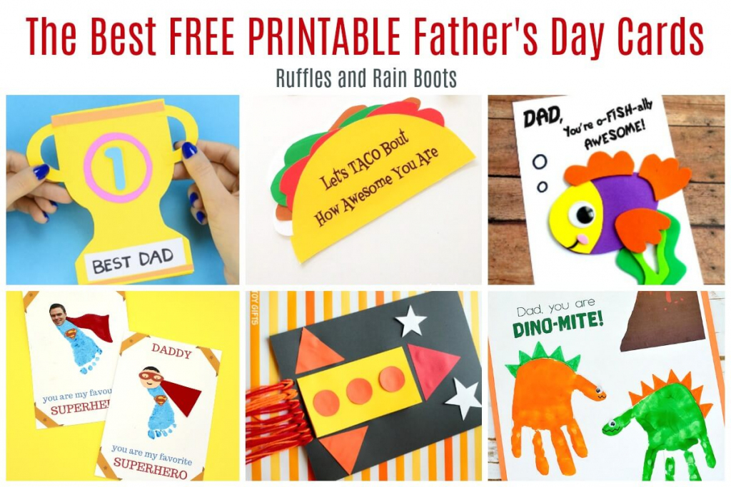 12 Free Printable Father's Day Cards - Ruffles And Rain Boots | Printable Fathers Day Cards For Kids