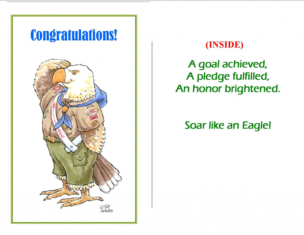 13 Best Photos Of Free Printable Eagle Scout Cards - Eagle Scout | Eagle Scout Cards Free Printable
