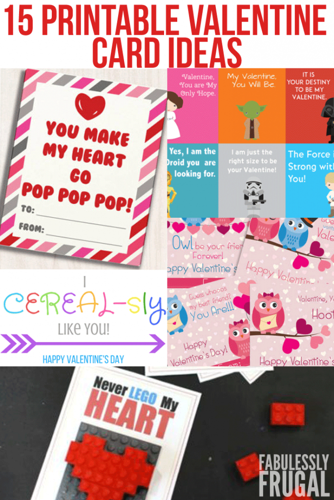 15 Free Printable Valentine's Day Cards For School - Fabulessly Frugal | Deal A Meal Cards Printable