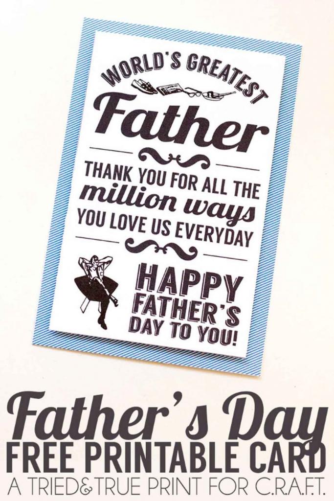 16 Printable Father's Day Cards - Free Printable Cards For Father's Day | Printable Fathers Day Cards For Husband