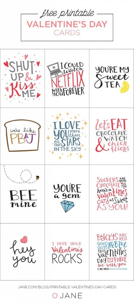 17 Free Printable Valentine Greeting Cards   Valentine's Inspiration   Printable Valentines Day Cards For Husband