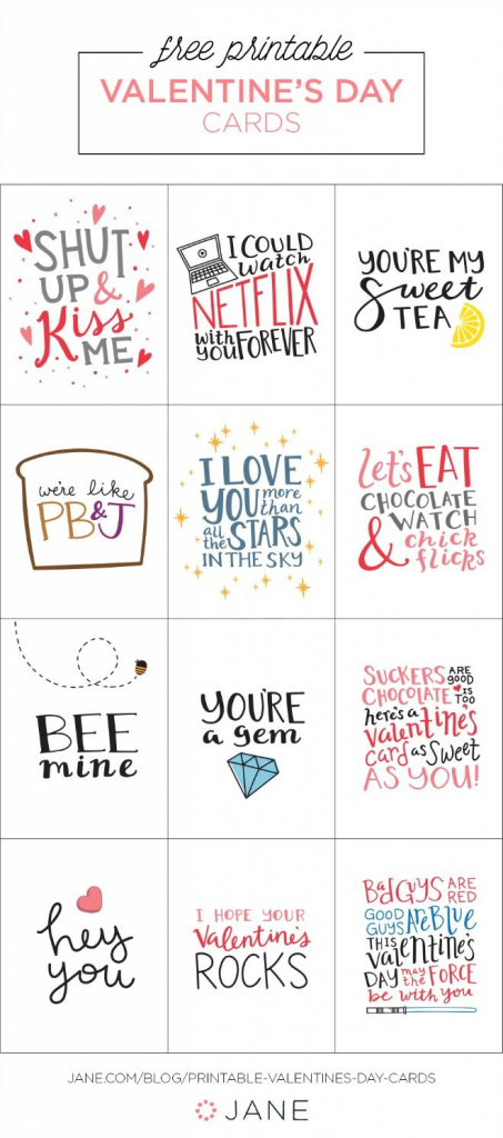17 Free Printable Valentine Greeting Cards | Valentine's Inspiration | Printable Valentines Day Cards
