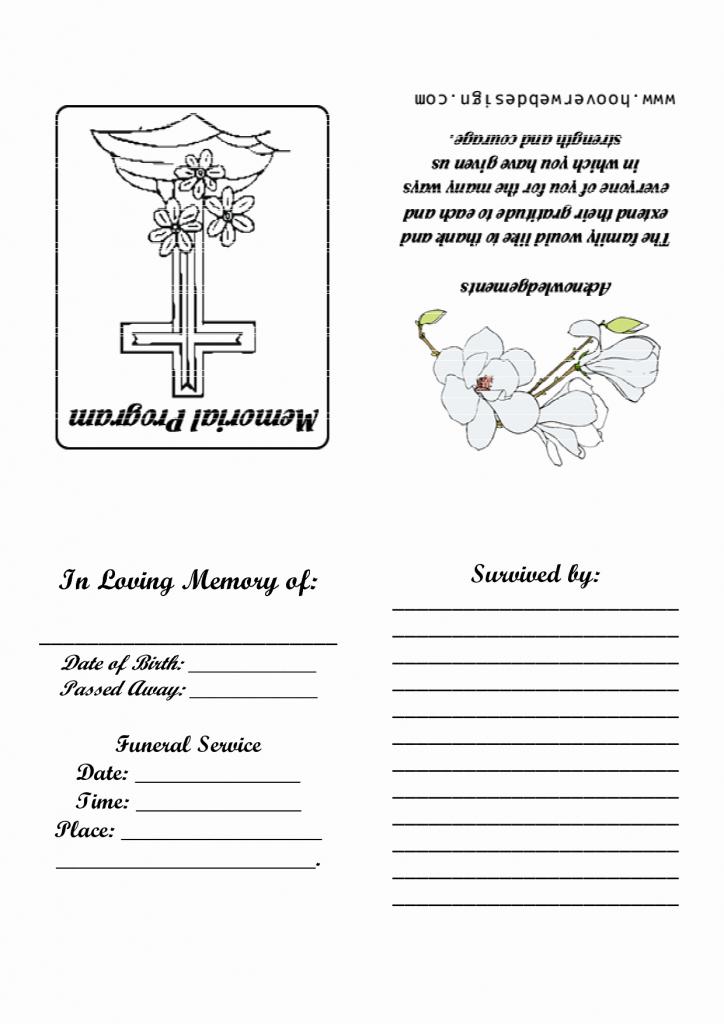 18 Elegant Free Printable Funeral Prayer Card Template – Wikimuslim   Free Printable Funeral Prayer Card Template