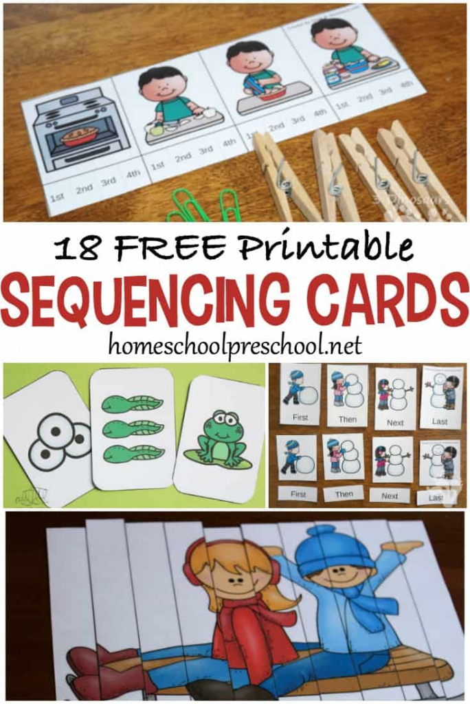 18 Free Printable Sequencing Cards For Preschoolers | Free Printable Schedule Cards For Preschool