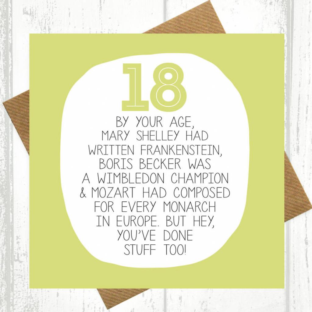 18Th Birthday Cards — Birthday Invitation Examples   Funny 18Th Birthday Cards Printable