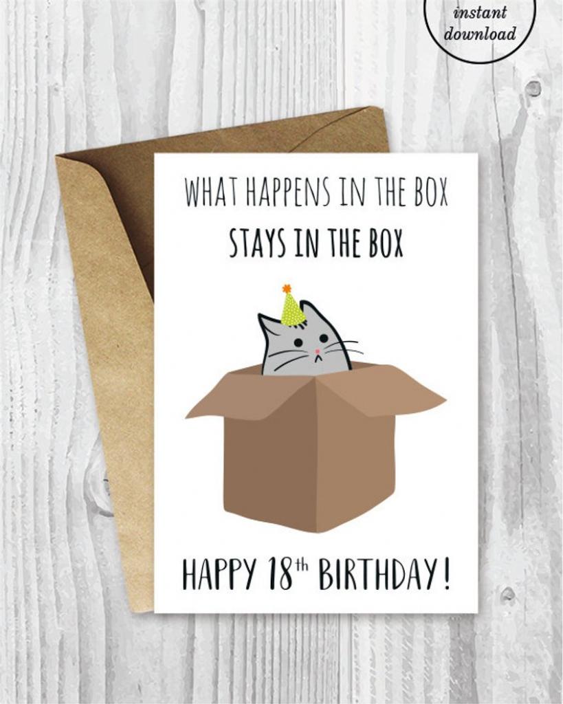 18Th Birthday Printable Cards Funny 18Th Birthday Cards   Etsy   Funny 18Th Birthday Cards Printable