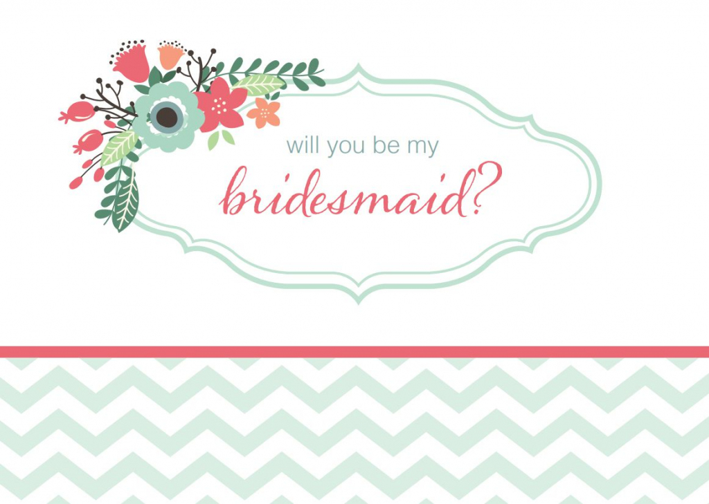 19 Free, Printable Will You Be My Bridesmaid? Cards   Free Printable Will You Be My Bridesmaid Cards