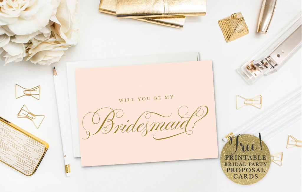 19 Free, Printable Will You Be My Bridesmaid? Cards | Will You Be My Godmother Printable Card Free