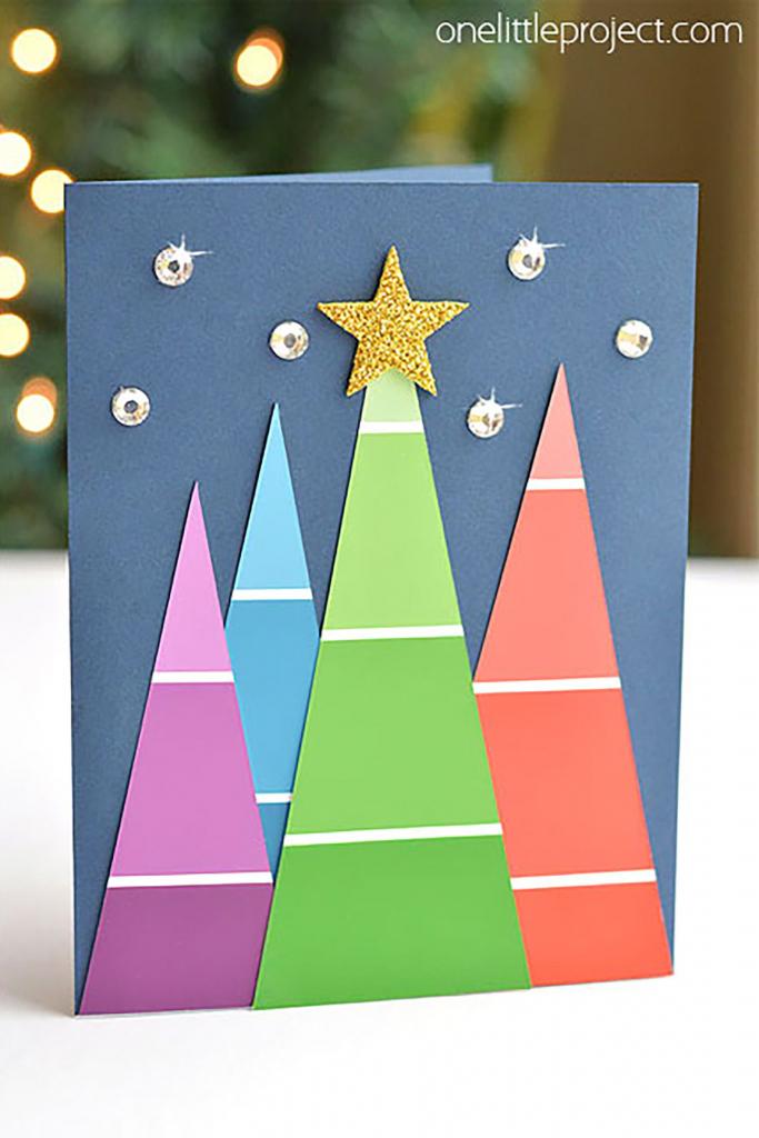 20 Diy Christmas Card Ideas - Easy Homemade Christmas Cards We're   Create Your Own Free Printable Christmas Cards