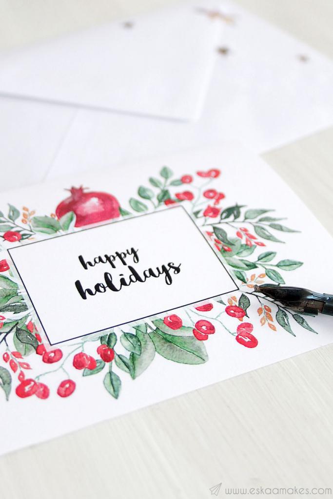 20 Diy Christmas Card Ideas - Easy Homemade Christmas Cards We're | Make A Holiday Card For Free Printable