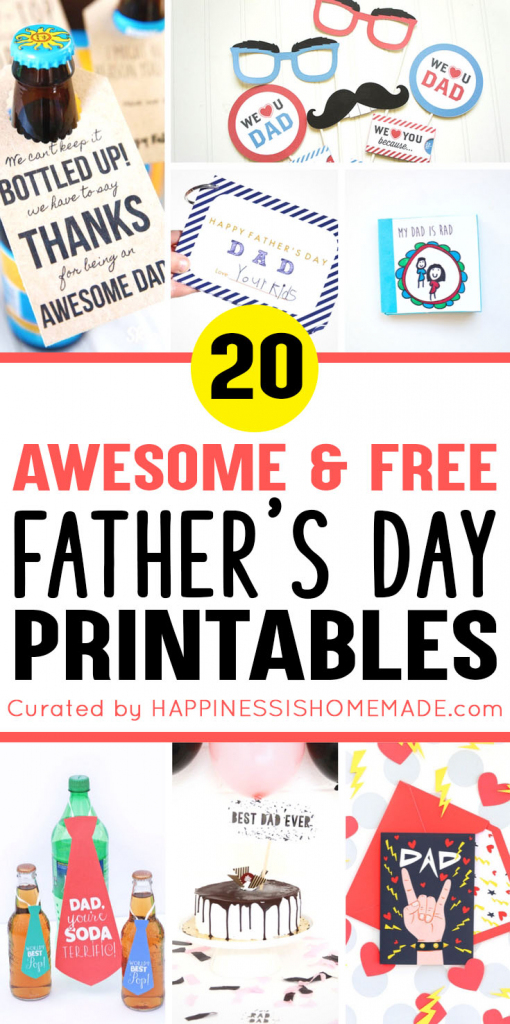 20+ Free Father's Day Printables - Happiness Is Homemade   Free Printable Fathers Day Cards For Preschoolers