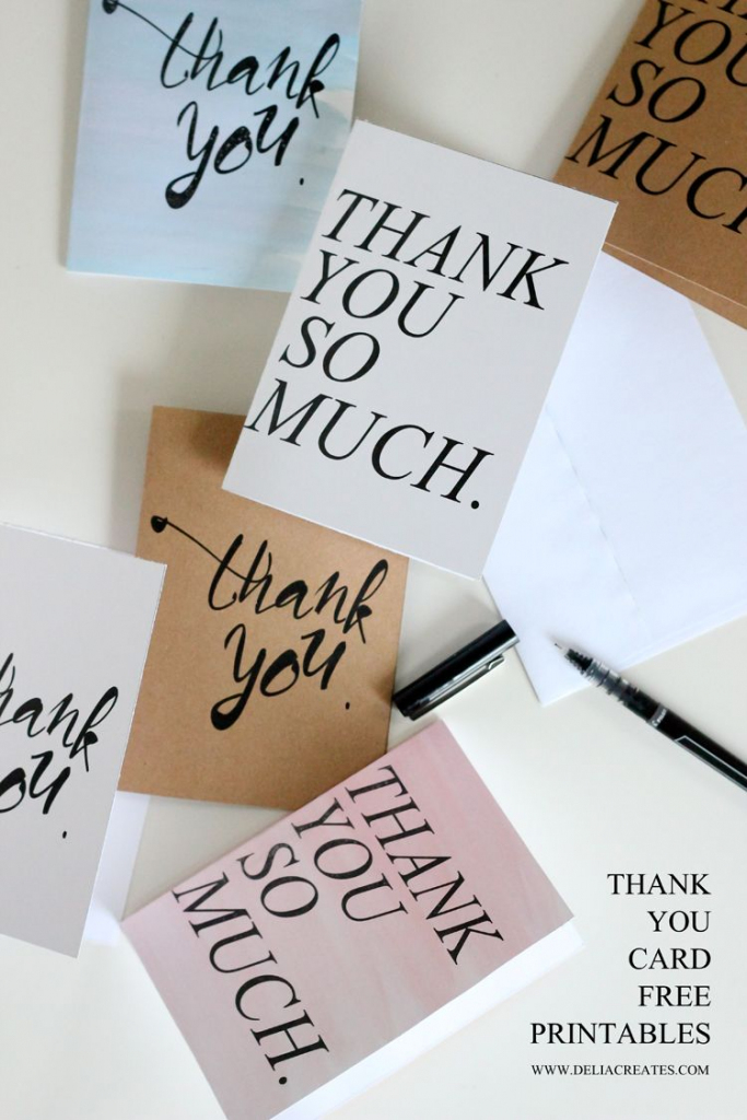 20 Free Printable Greeting Cards   Cards/presents - Printable Thank   Free Personalized Thank You Cards Printable
