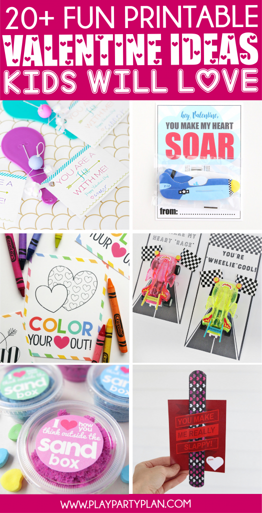 20+ Fun Valentine's Day Cards For Kids - Play Party Plan | Valentine's Day Card Ideas Printables