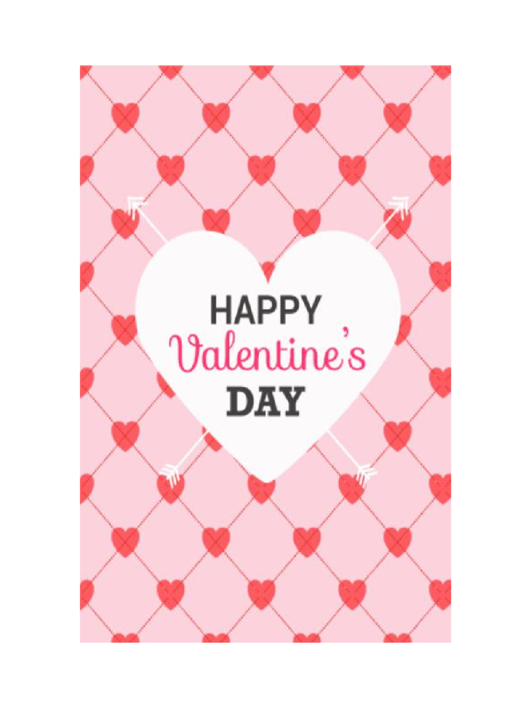 2019 Valentine's Day Card Template - Fillable, Printable Pdf & Forms   Valentine's Day Card Printable Templates