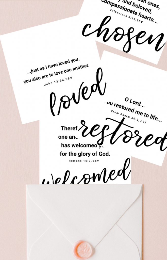2019 You Are Loved | Set Of 8 Free Printable Bible Verse Cards | Free Printable Bible Verse Cards