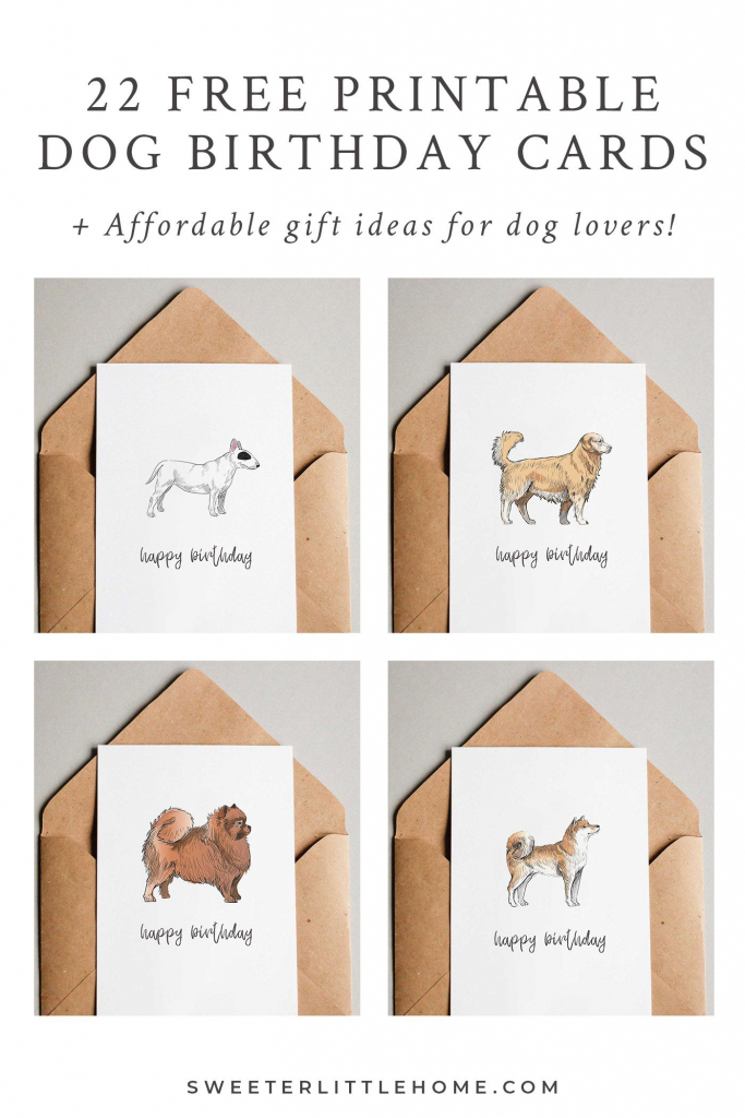 22 Free Printable Dog Birthday Cards | Cute Puppies | Dog Birthday | Printable Dog Birthday Cards
