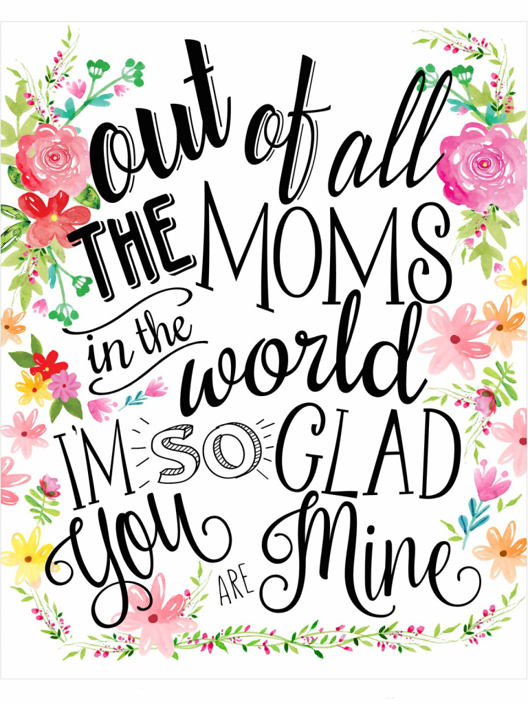 23 Mothers Day Cards - Free Printable Mother's Day Cards | Mothers Day Printable Cards