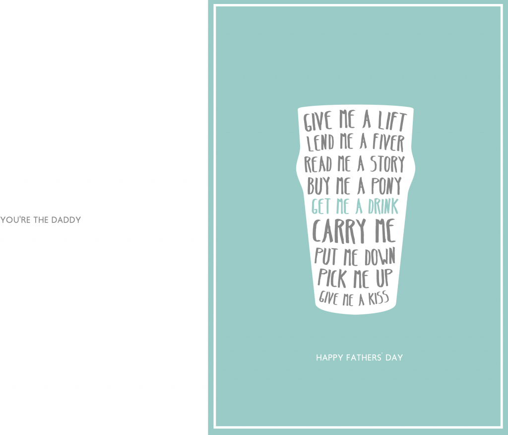 24 Free Printable Father's Day Cards | Kittybabylove | Printable Fathers Day Cards For Husband