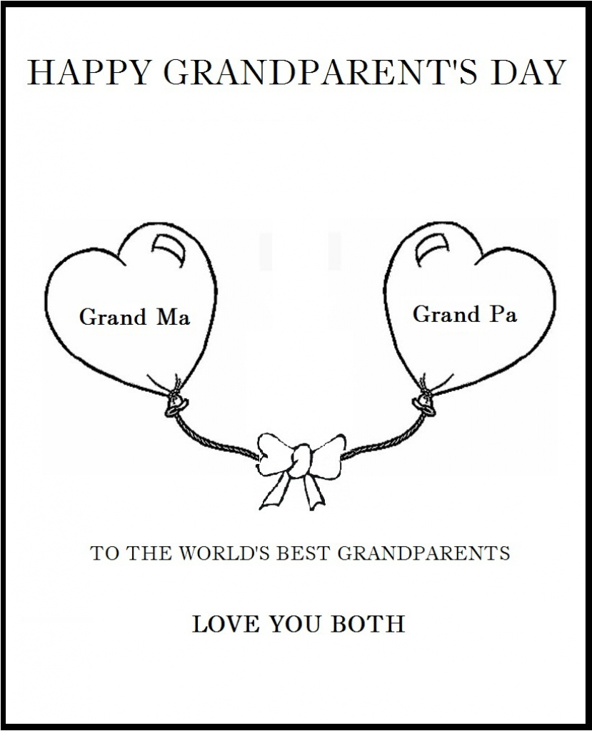 25 Images Of Grandparents Day Card Template | Bfegy | Grandparents Day Invitation Cards Printable