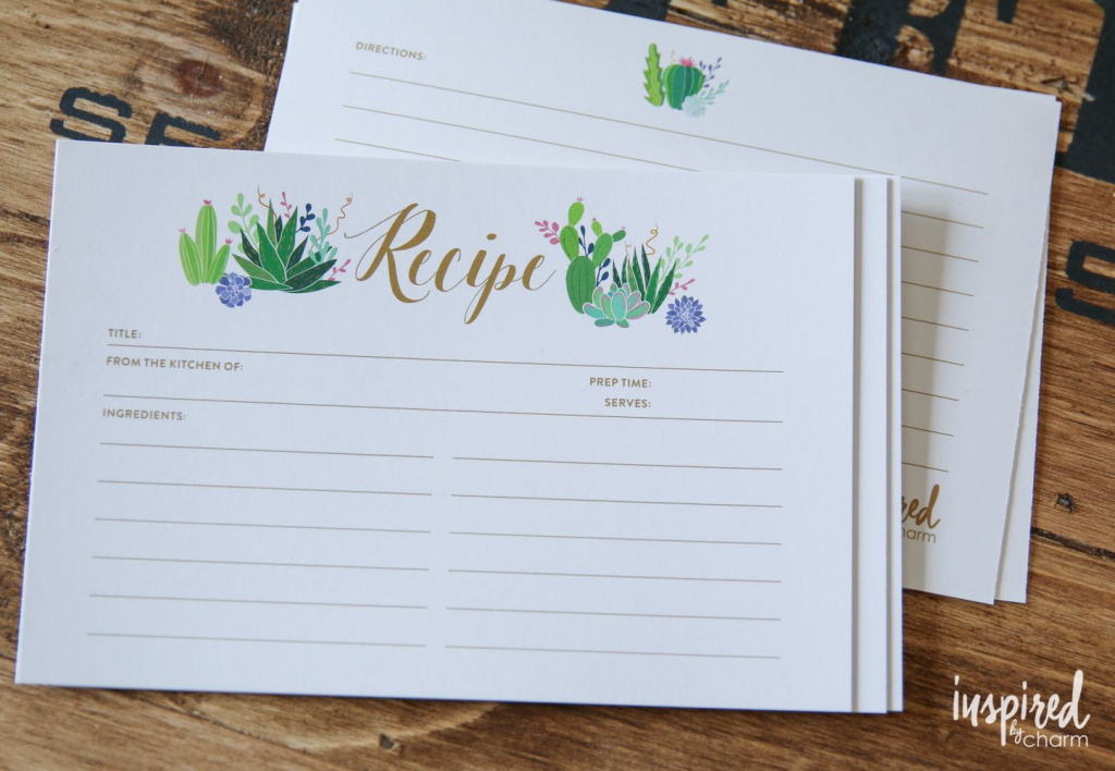 27 Sets Of Free, Printable Recipe Cards   Free Printable Photo Cards 4X6