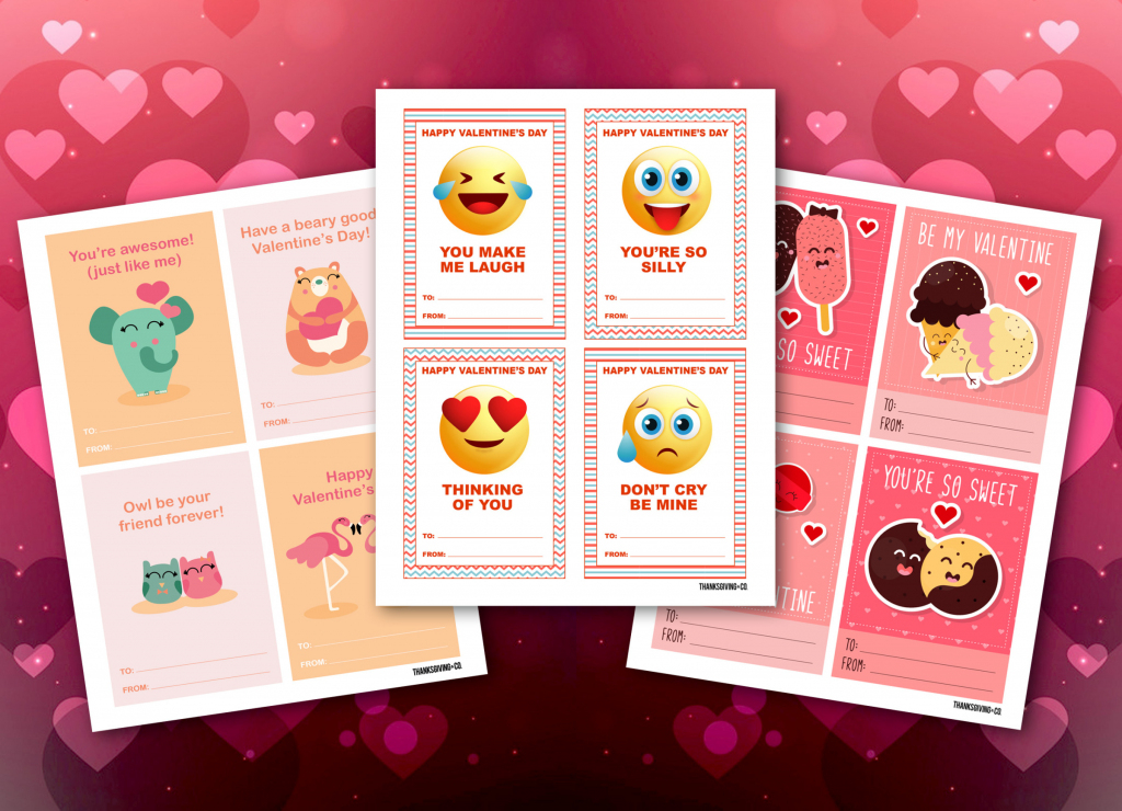 3 Free And Printable Valentine's Day Cards Perfect For Sharing At   Free Printable School Valentines Cards