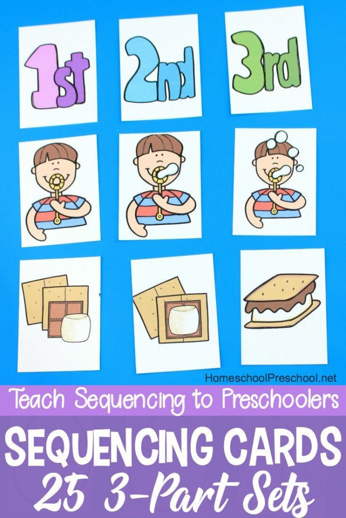 3 Step Sequencing Cards Free Printables For Preschoolers | Free | Free Printable Sequencing Cards