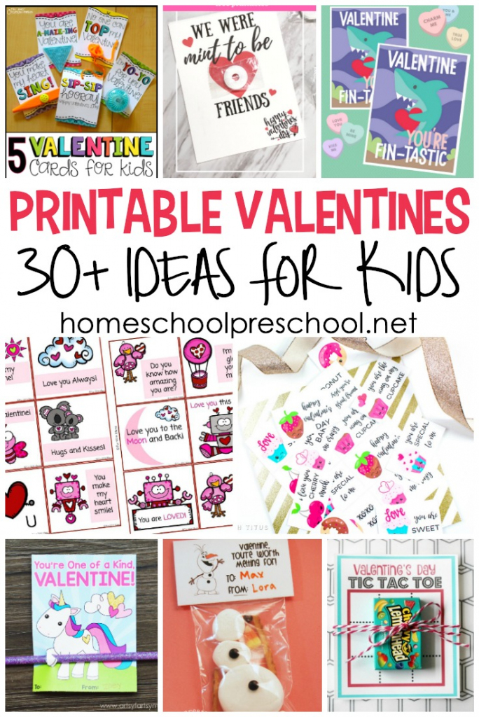 30+ Free Printable Valentine Card Ideas For Preschool   Printable Valentine Cards For Kids