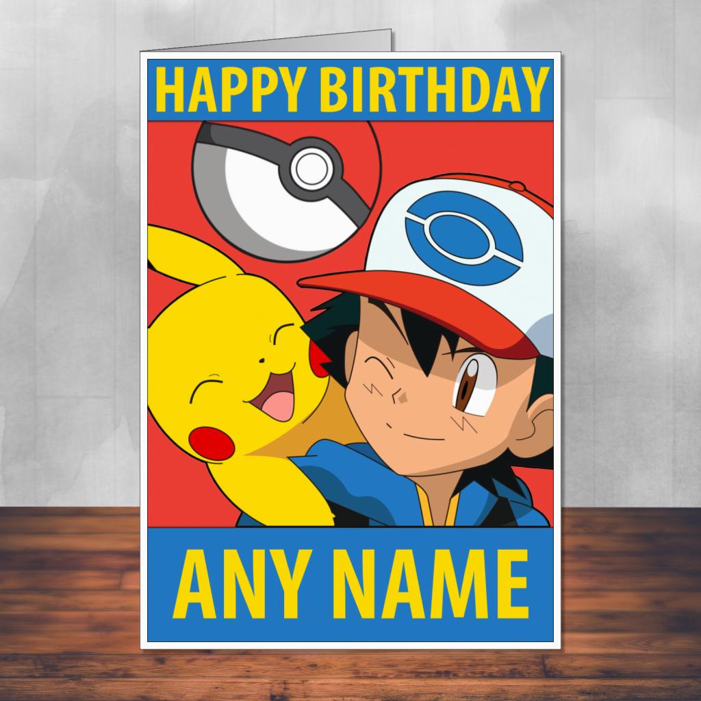 30 Images Of Pokemon Picachu Birthday Card Template | Bfegy | Pokemon Birthday Card Printable