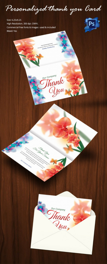 30+ Personalized Thank You Cards - Free Printable Psd, Eps Format   Free Personalized Thank You Cards Printable