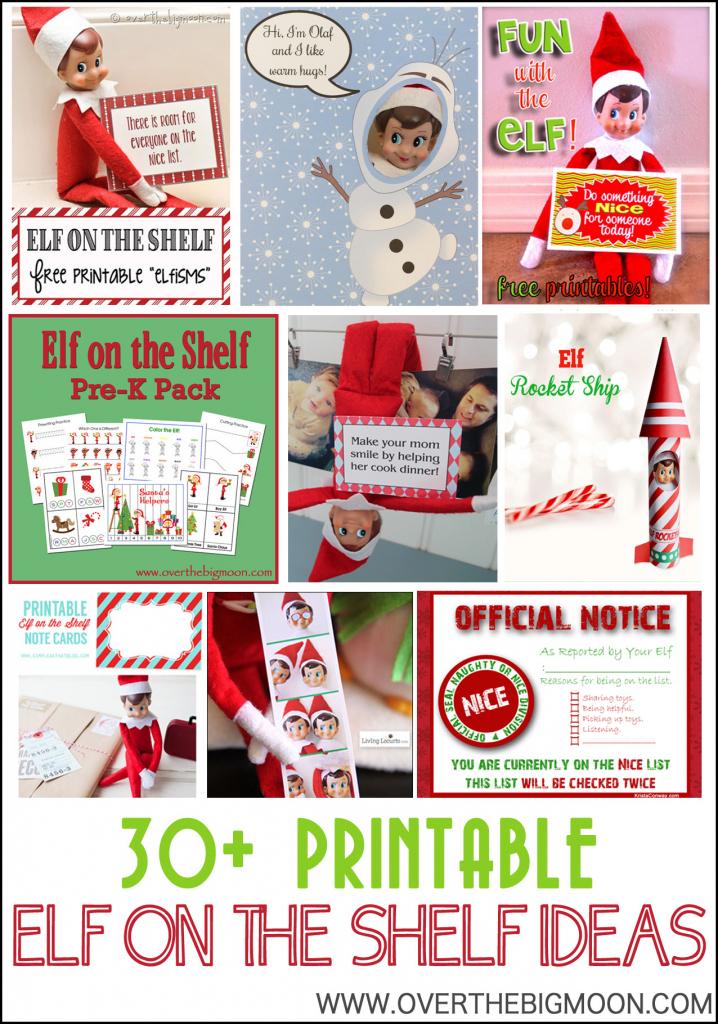 30+ Printable Elf On The Shelf Ideas - Over The Big Moon | Elf On The Shelf Printable Note Cards