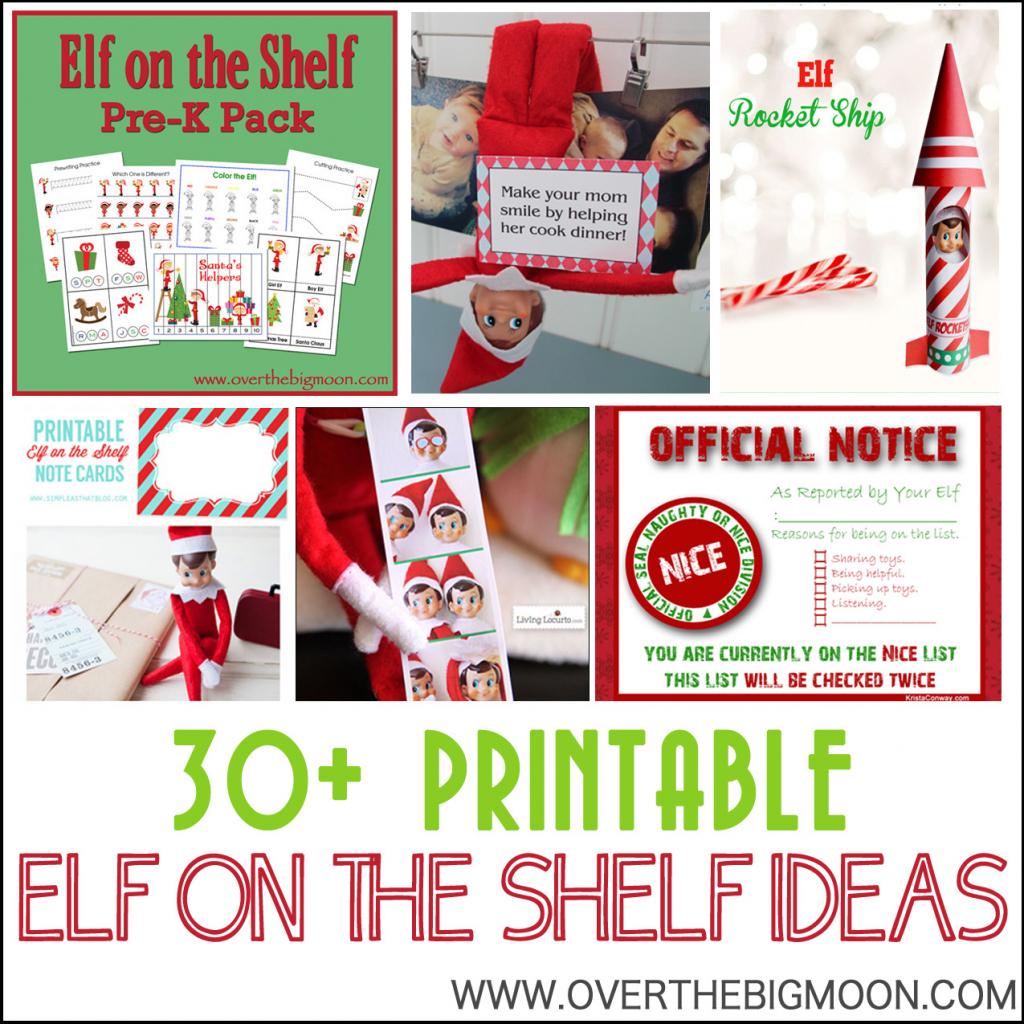 30+ Printable Elf On The Shelf Ideas - Over The Big Moon | Printable Elf On The Shelf Note Cards