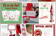 30+ Printable Elf On The Shelf Ideas – Over The Big Moon | Printable Elf On The Shelf Note Cards