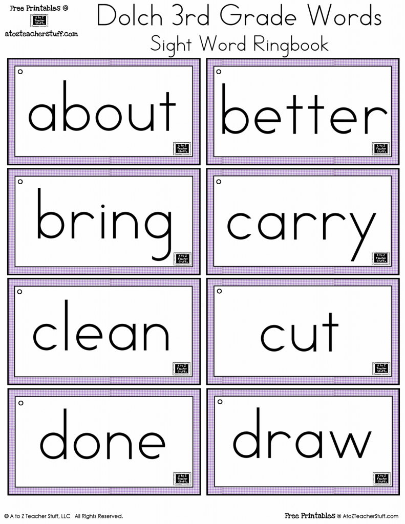 3Rd Grade Sight Words Flash Cards - Kleo.bergdorfbib.co | Sight Words Flash Cards Printable
