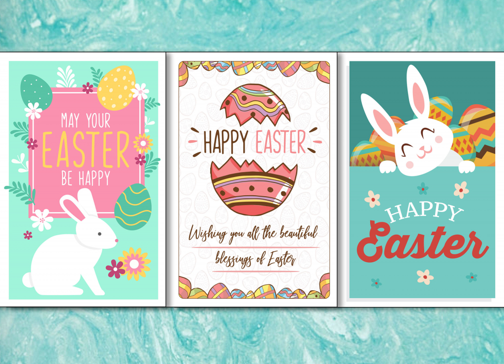 4 Colorful, Printable Easter Cards To Give To Friends And Family   Printable Easter Greeting Cards Free