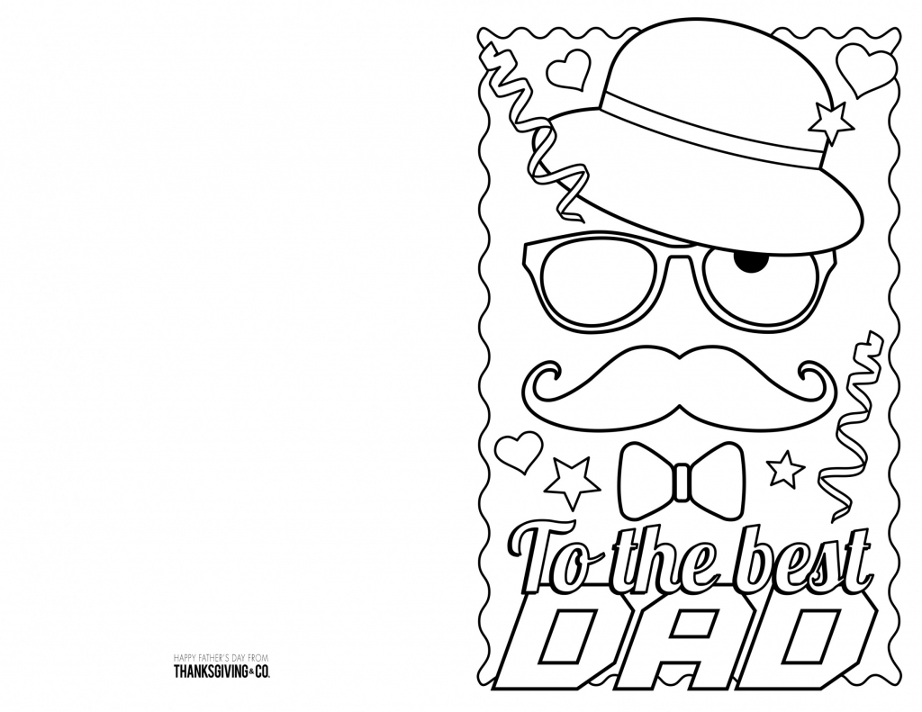 4 Free Printable Father's Day Cards To Color - Thanksgiving | Printable Fathers Day Cards For Kids