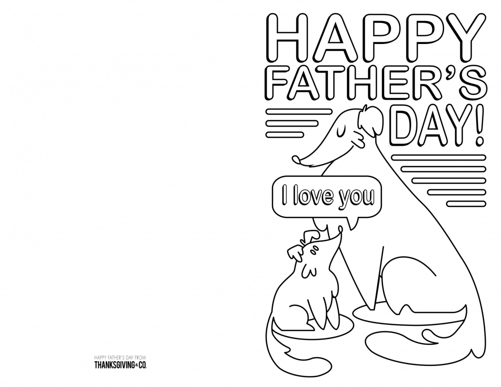 4 Free Printable Father's Day Cards To Color - Thanksgiving | Printable Fathers Day Cards To Color