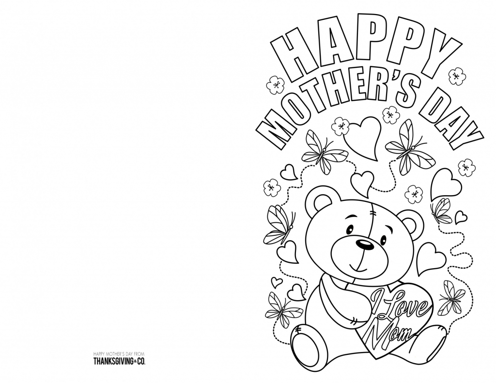 4 Free Printable Mother's Day Ecards To Color - Thanksgiving | Free Printable Mothers Day Cards To Color