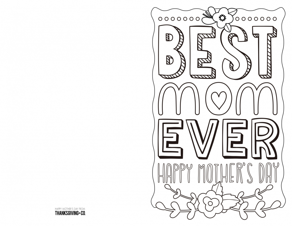 4 Free Printable Mother's Day Ecards To Color - Thanksgiving | Printable Mothers Day Cards To Color