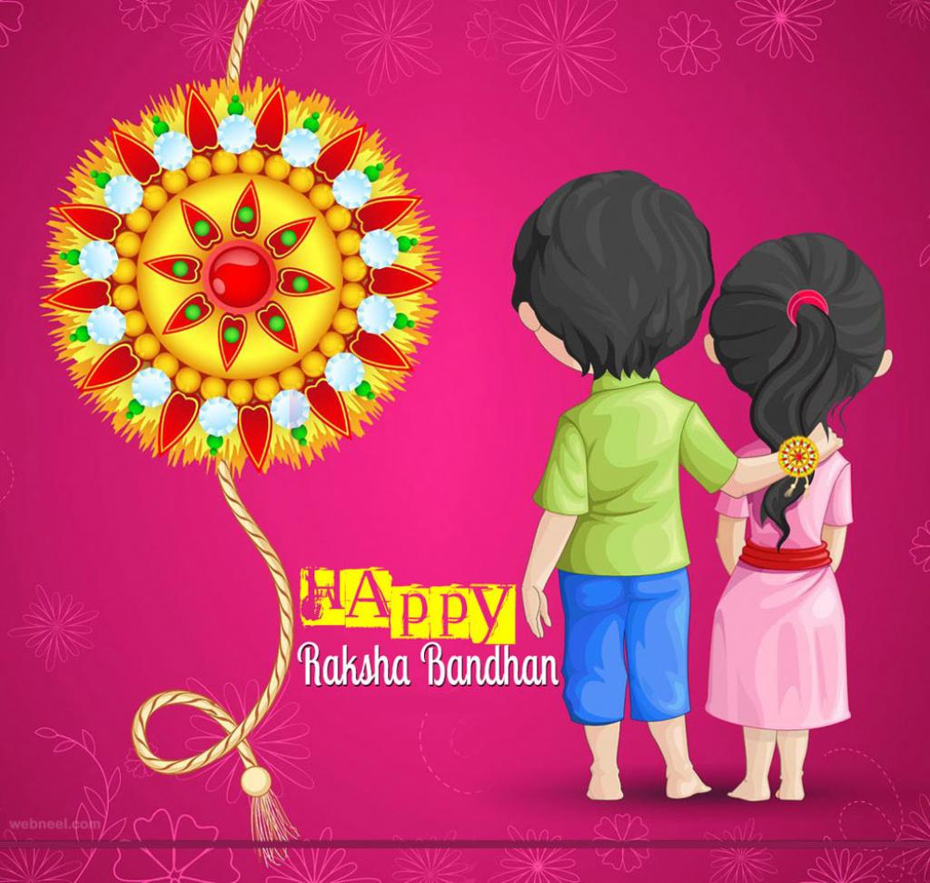 40 Beautiful Raksha Bandhan Greetings Cards And Wallpapers   Raksha Bandhan Greeting Cards Printable