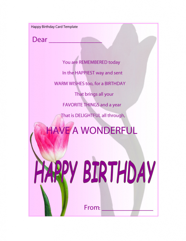 40+ Free Birthday Card Templates ᐅ Template Lab | Printable Birthday Cards For Fiance