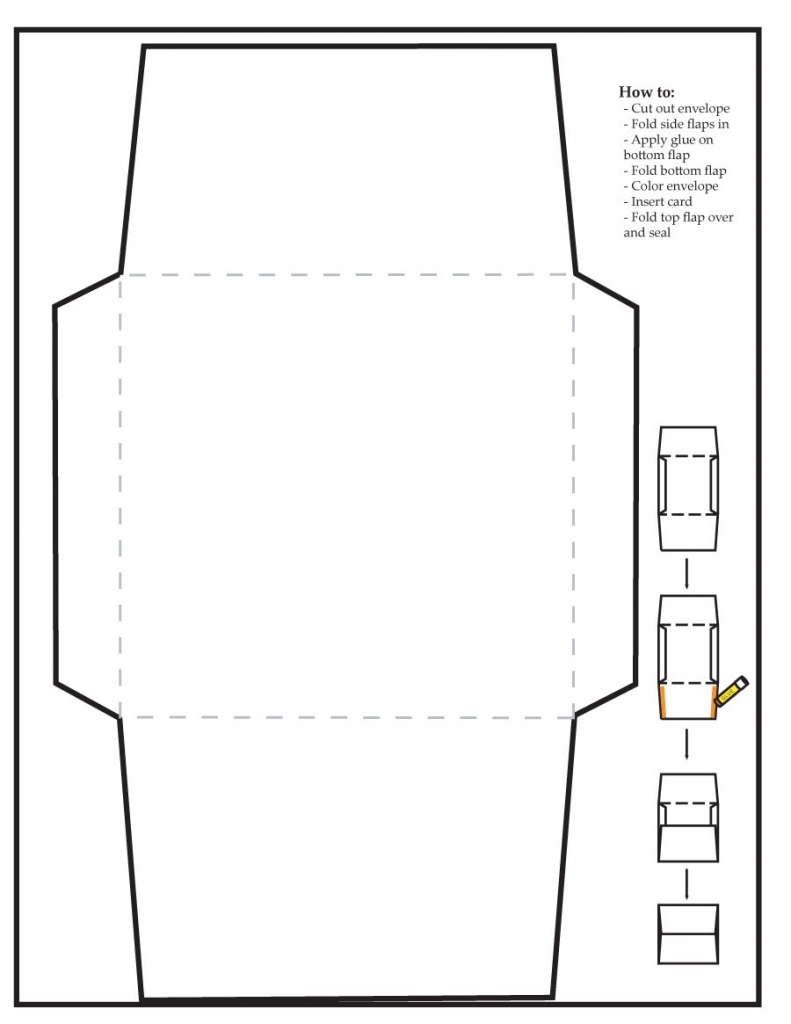 40+ Free Envelope Templates (Word + Pdf) ᐅ Template Lab | Free Printable Greeting Card Envelope Template